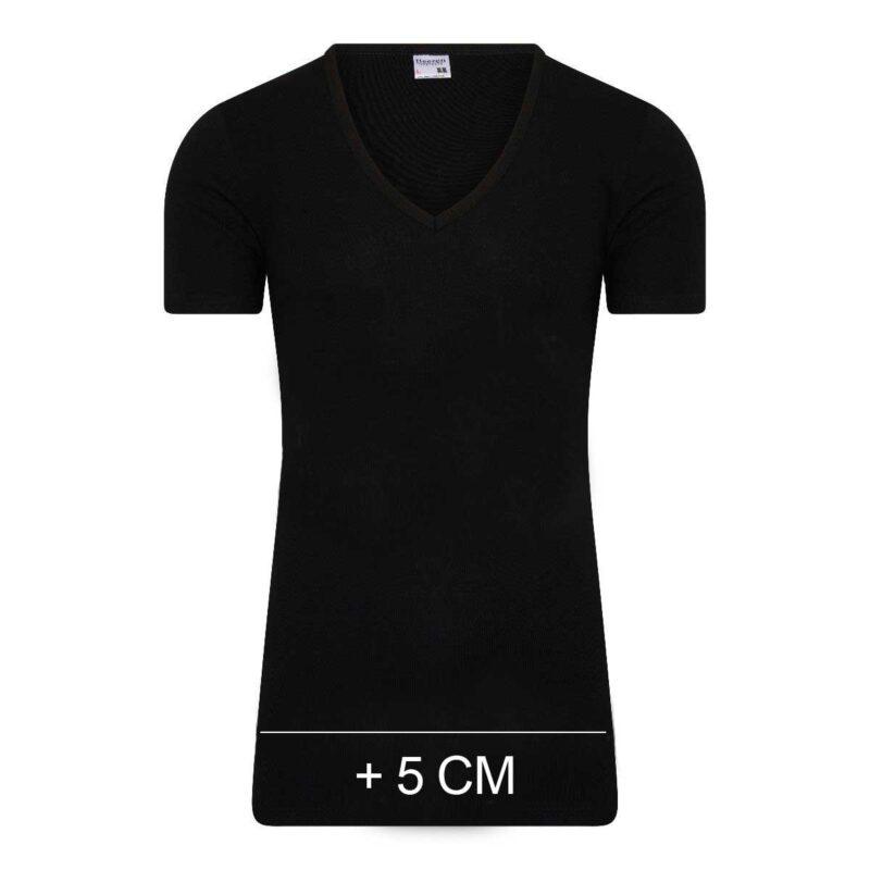 Beeren Extra Lang T-Shirt Diepe V-hals M3000 Zwart