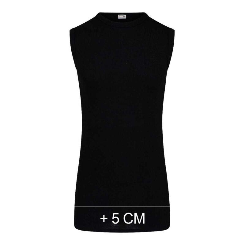 Beeren Heren Extra Lang Mouwloos Shirt M3000 Zwart
