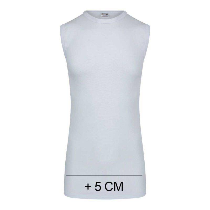 Beeren Heren Extra Lang Mouwloos T-Shirt Wit