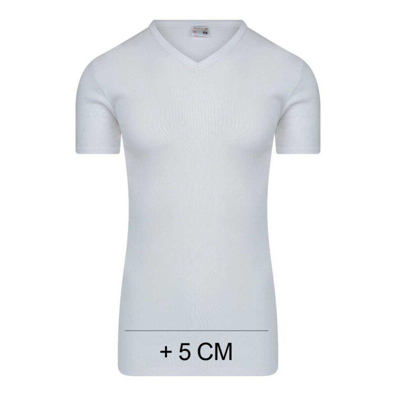 Beeren Heren Extra Lang T-Shirt V-hals M3000 Wit