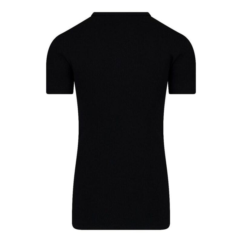 Beeren Heren Extra Lang T-Shirt V-hals Zwart Achterkant