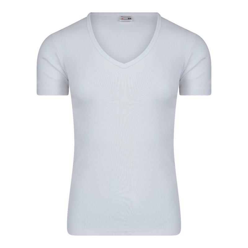 Beeren Heren T-Shirt Wit Diepe V Hals M3000