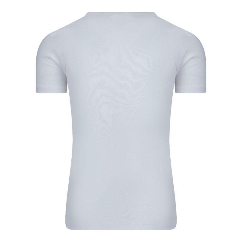 Beeren Heren T-Shirt Wit Diepe V Hals M3000 achterkant