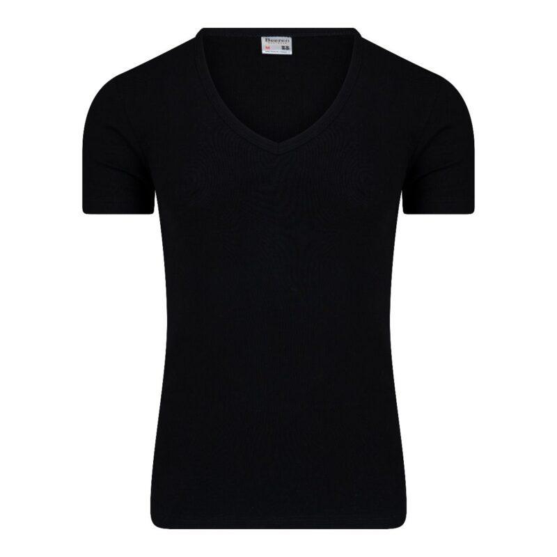Beeren Heren T-Shirt Zwart Diepe V Hals M3000