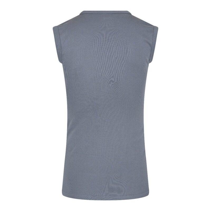 Beeren Mouwloos Shirt Grijs achterkant