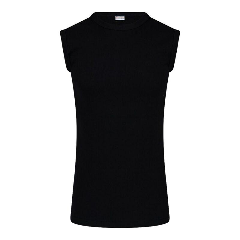 Beeren Mouwloos Shirt Zwart