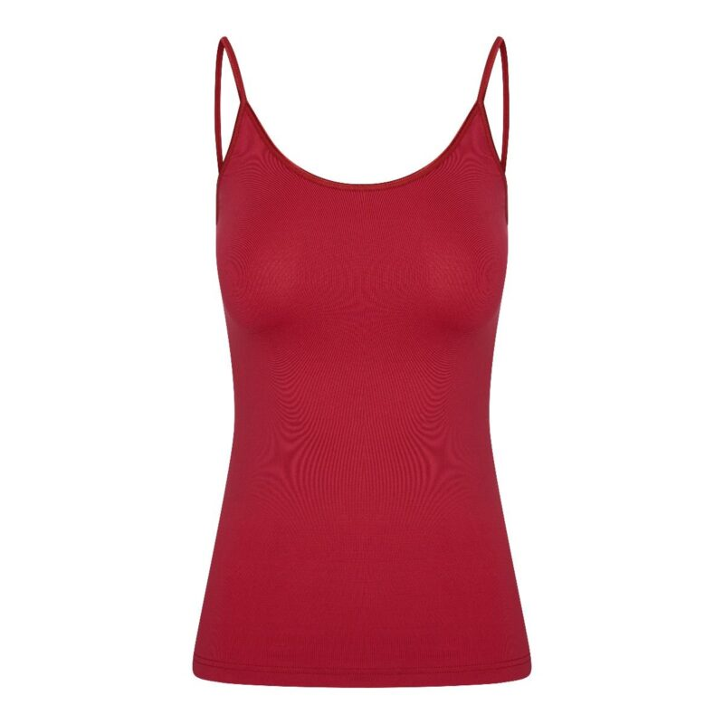 Dames top élégance rood