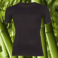 bamboe t shirt zwart