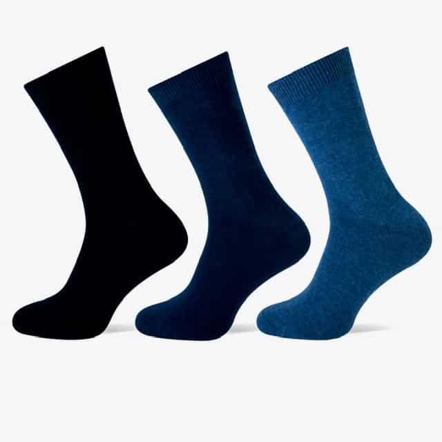 blauw gekleurd sokken heren teckel