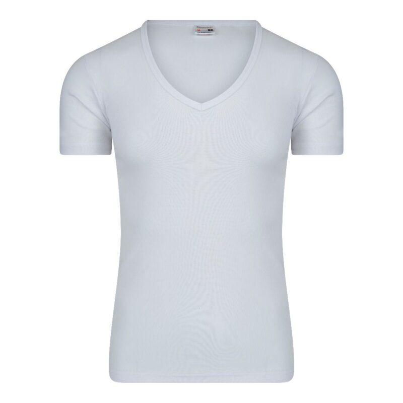 Beeren Heren T-Shirt wit diepe v hals M3000 wit