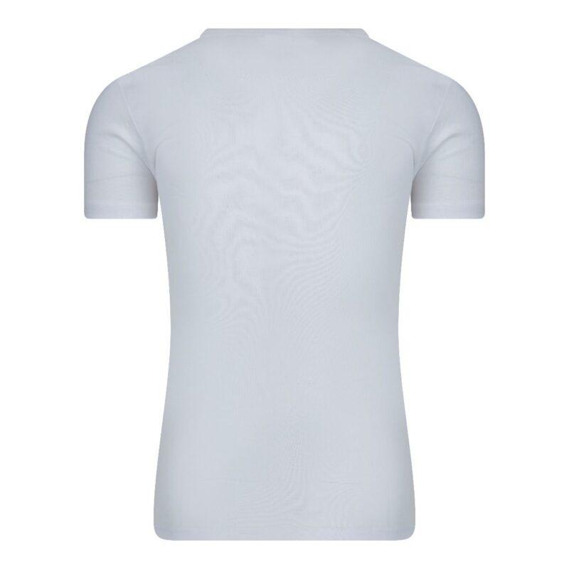 Beeren Heren T-Shirt wit diepe v hals M3000 wit achterkant