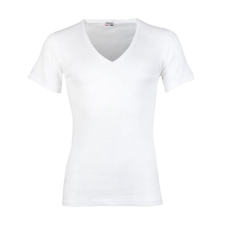 Beeren T-Shirt wit diepe v hals m3000