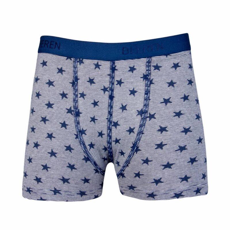 Beeren Jongens Boxershort Stripe Star Blauw