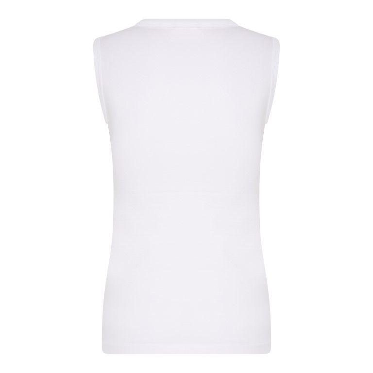 Beeren Jongens Mouwloos Shirt Comfort Feeling Wit achterkant