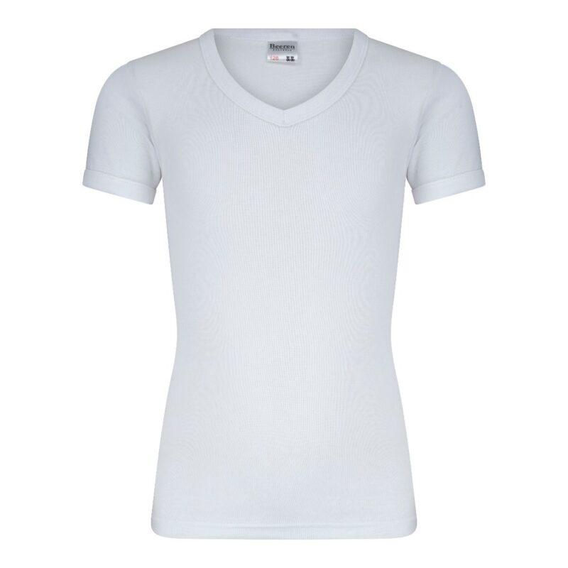 Beeren Jongens Shirt V-Hals Korte Mouwen M3000 Wit