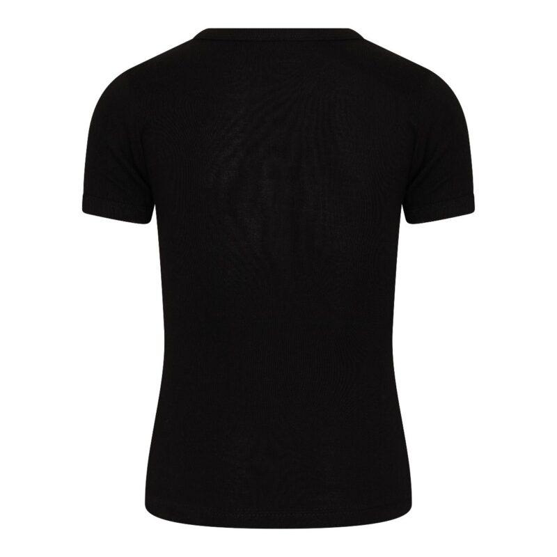 Beeren Jongens Shirt V-Hals Korte Mouwen M3000 Zwart achterkant