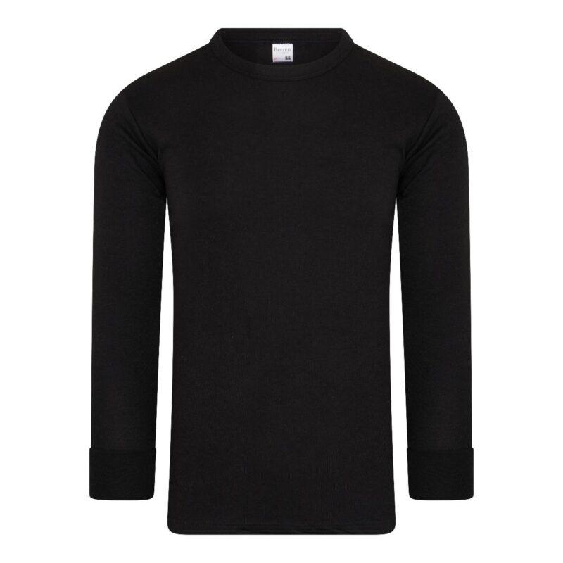 Beeren Thermo Heren Hemd met Lange Mouwen Zwart