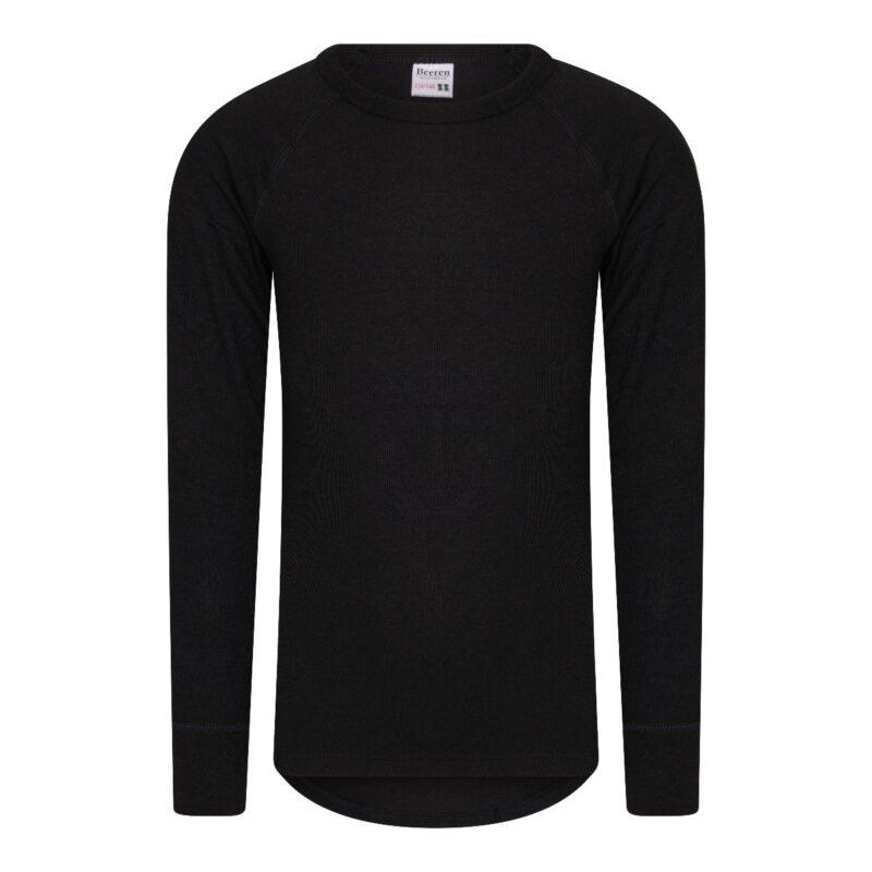 Kinder Thermo Shirt met Lange Mouwen Zwart