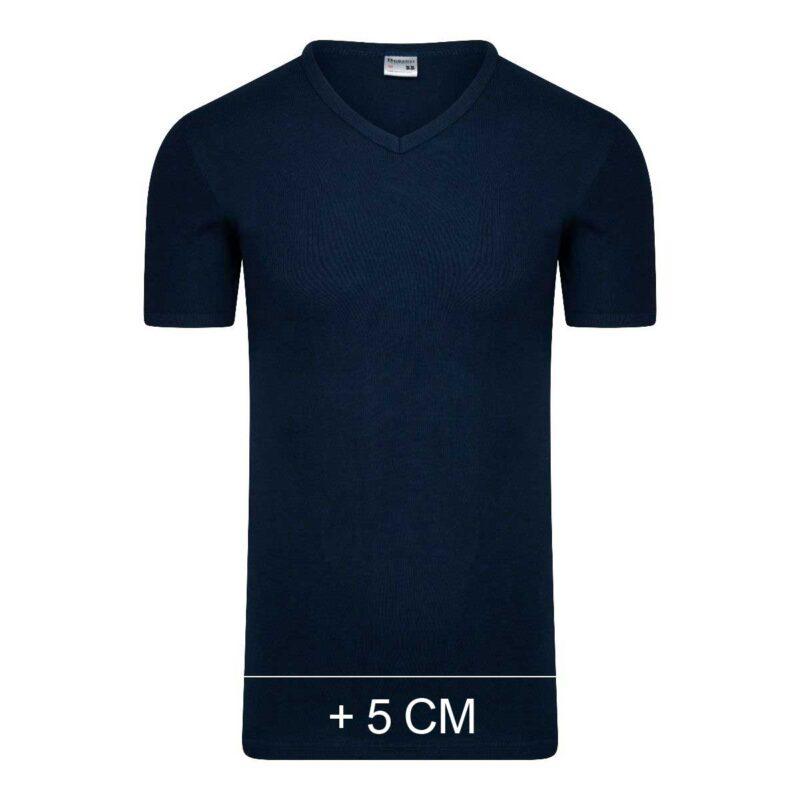 Beeren Extra Lang T-Shirt V-hals Marine