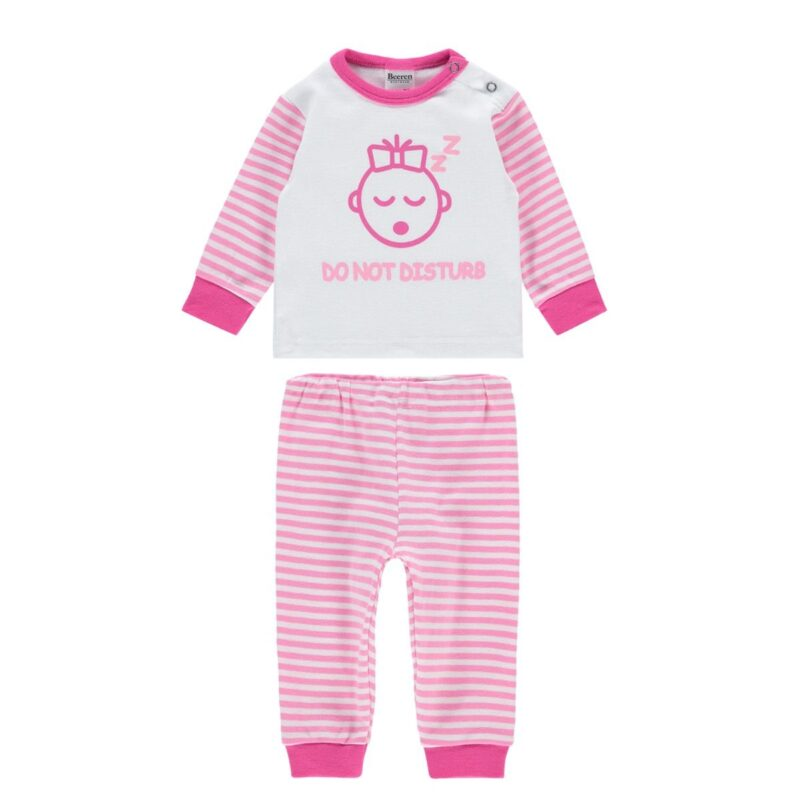 Beeren Baby Pyjama Do Not Disturb Roze