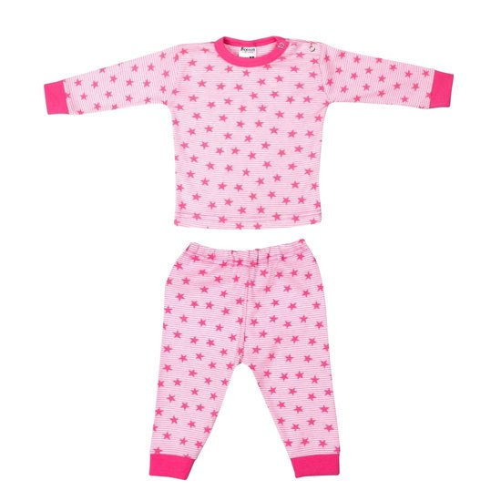 Beeren Baby Pyjama M3000 Streep Ster Roze