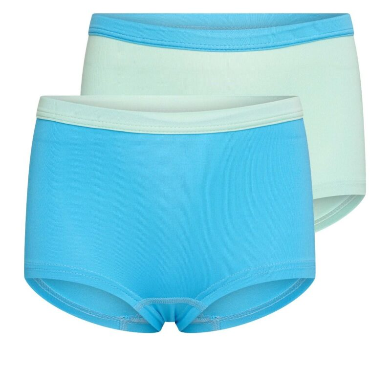 Beeren 2Pack Mix Match Meisjes Boxershorts Mint Turquoise