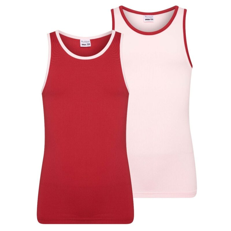 Beeren 2Pack Mix Match Meisjes Hemd Roze Rood