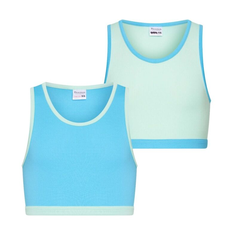 Beeren 2Pack Mix Match Meisjes Topjes Mint Turquoise