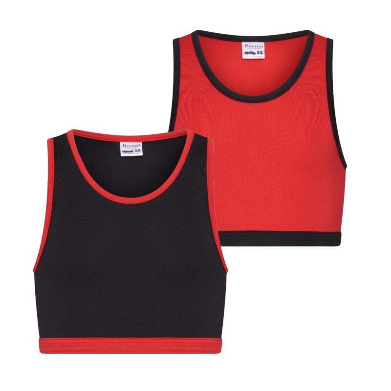Beeren 2Pack Mix Match Meisjes Topjes Rood Zwart