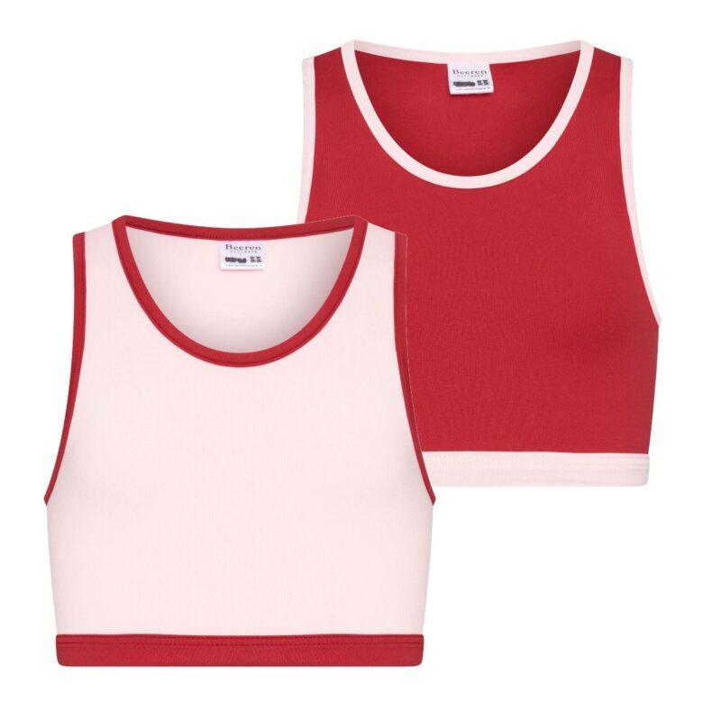 Beeren 2Pack Mix Match Meisjes Topjes Roze Rood