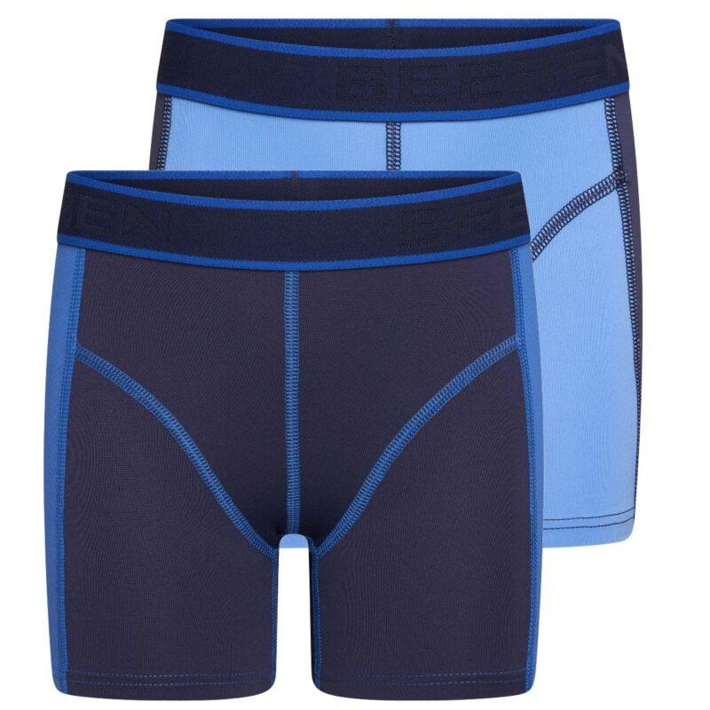 Beeren 2-Pack Mix and Match Jongens boxershorts Blauw