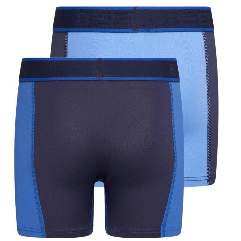 Beeren 2-Pack Mix and Match Jongens boxershorts Blauw achterkant